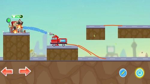 物理消防车画线大冒险游戏下载-物理消防车画线大冒险最新版下载